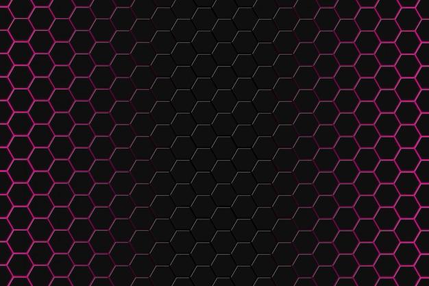 Abstrakte wiedergabe 3d der futuristischen oberfläche mit hexagonhintergrund.