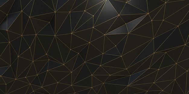 Abstrakte wiedergabe 3d der triangulierten oberfläche. moderner hintergrund. futuristische polygonale form. niedriger minimalistischer polyentwurf für plakat, abdeckung, branding, fahne, plakat. 3d render.