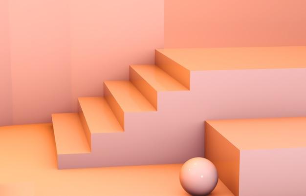 Abstrakte zusammensetzung 3d. mode schönheitspodium