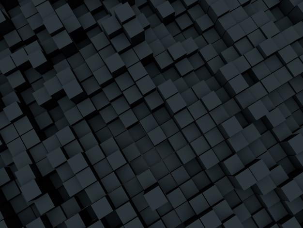 Abstrakter 3d-hintergrund des extrudierens von würfeln