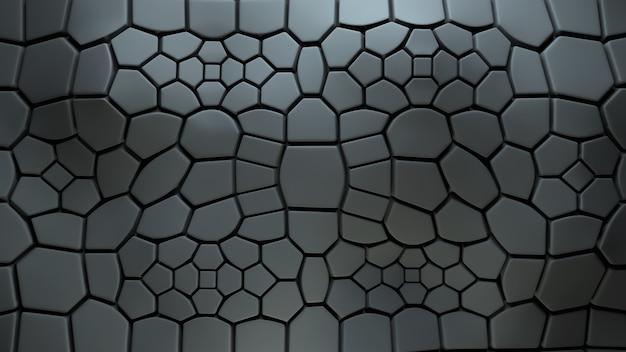 Abstrakter 3d-hintergrund mit extrudierten polygonen