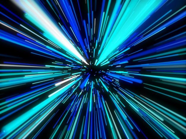 Abstrakter 3d-hintergrund mit geraden bewegungslinien
