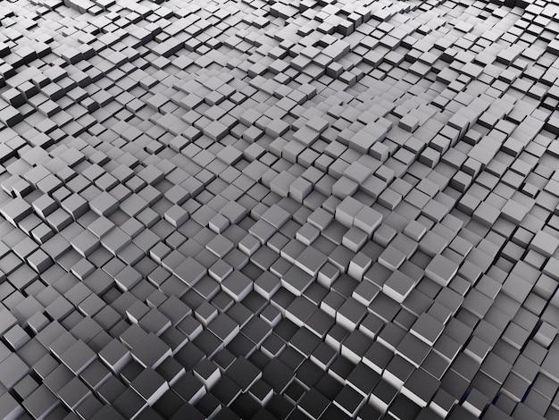 Abstrakter 3d-hintergrund mit grauen würfeln
