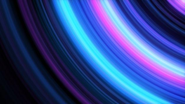 Abstrakter 3d-illustrationshintergrund der leuchtenden linien