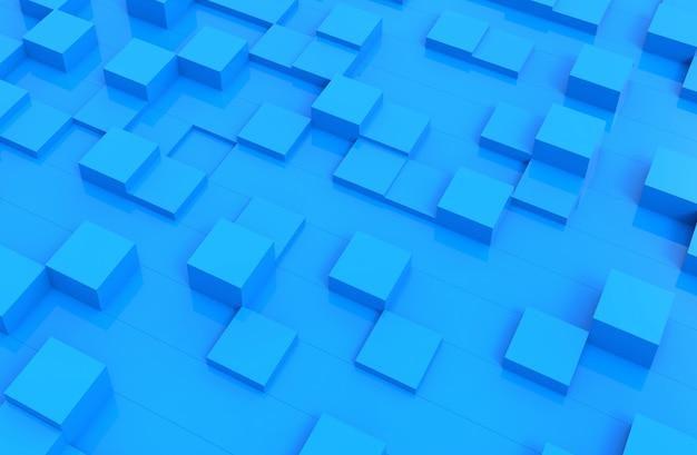 Abstrakter abstrakter hintergrund der blauen würfel