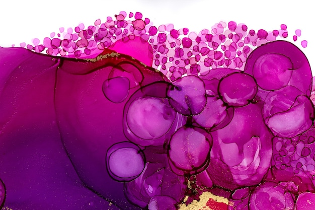 Abstrakter aquarellburgunder-farbgrafikhintergrund mit violetten blasen