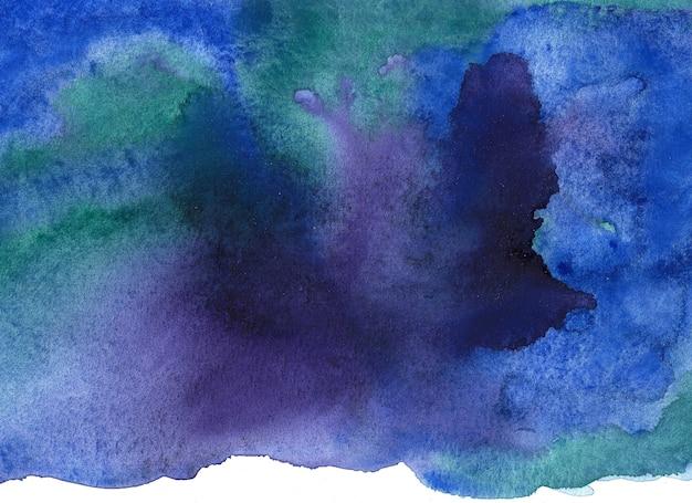 Abstrakter aquarellpinselhintergrund. handgemalte abbildung.