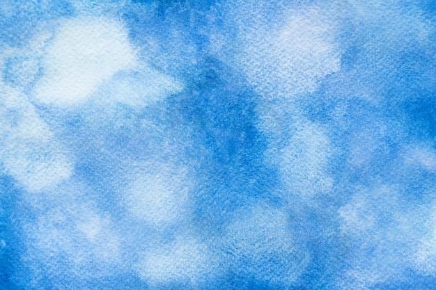 Abstrakter blauer aquarellhintergrund. handgemachter hintergrund der pinselkunstbeschaffenheit. nahansicht.