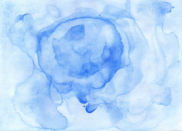 Abstrakter blauer aquarellhintergrund hellblaue handgezeichnete abstraktion aquarelltextur