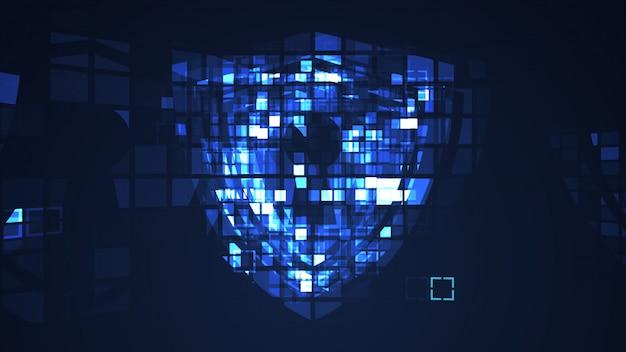 Abstrakter blauer cyber-digitaltechnik-grafikhintergrund