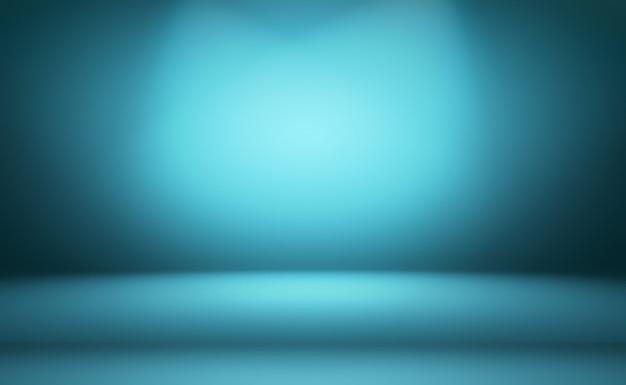 Abstrakter blauer hintergrund der luxussteigung. glattes dunkelblau mit schwarzer vignette studio banner.