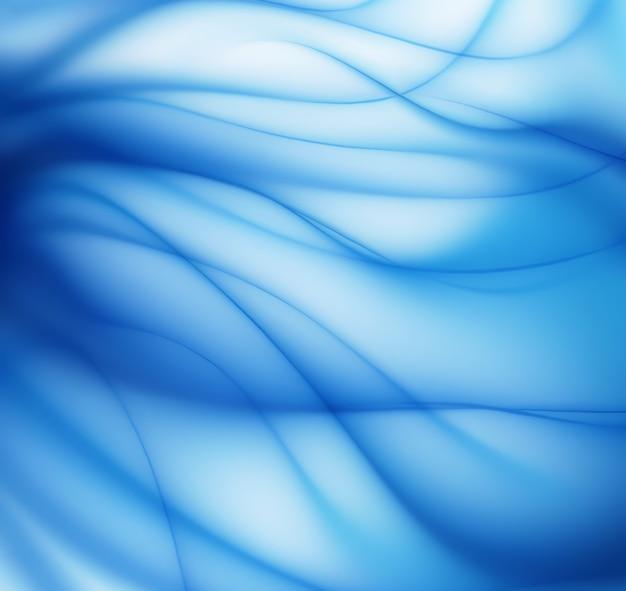 Abstrakter blauer hintergrund mit glatten linien