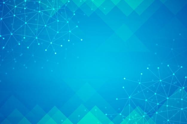 Abstrakter blauer hintergrund mit netzwerk
