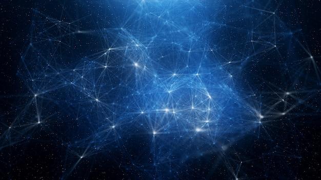 Abstrakter blauer plexushintergrund