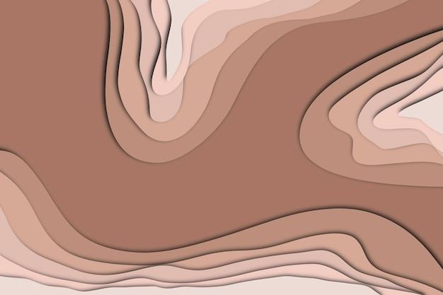 Abstrakter brauner papierschnitteffekt für den hintergrund