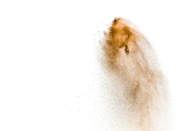 Abstrakter brauner sand spritzt.