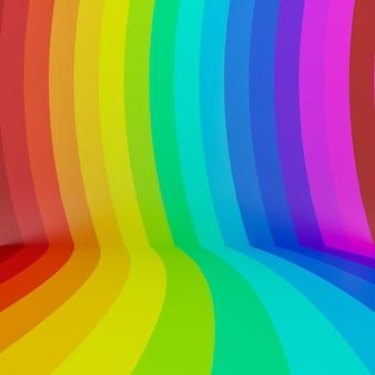 Abstrakter bunter regenbogenperspektivenhintergrund, 3d