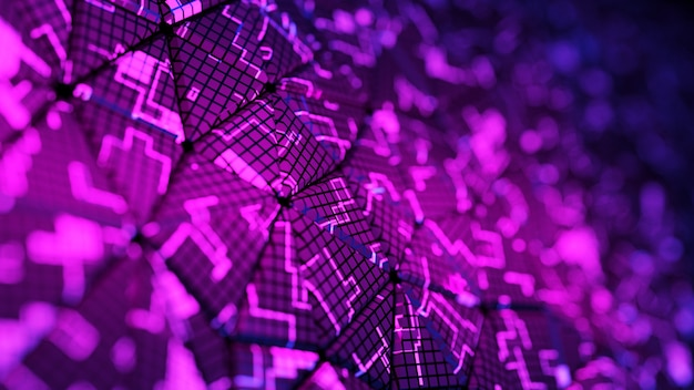 Abstrakter digitaler hintergrund. 3d-rendering