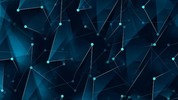 Abstrakter digitaler hintergrund, der punkte und linien verbindet