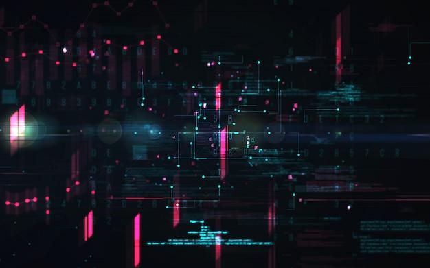 Abstrakter digitaler hintergrund. futuristisches big-data-informationstechnologie-konzept. blockkette
