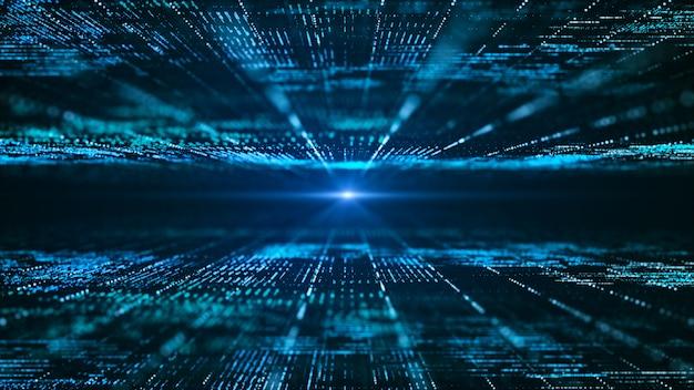 Abstrakter digitaler matrixhintergrund. futuristisches informationstechnologiekonzept für große daten.