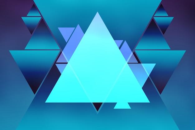 Abstrakter dreieck-form-hintergrund-helle purpurrote blaue steigung