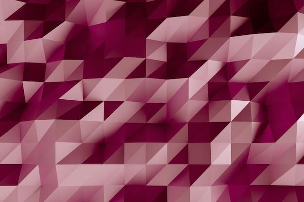 Abstrakter facettierter geometrischer rosa hintergrund Premium Fotos