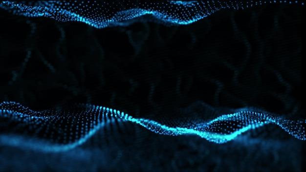 Abstrakter fantastischer digitaler wellenhintergrund
