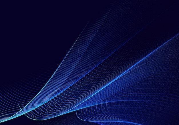 Abstrakter farbdynamischer hintergrund mit lichteffekt. fraktal wellig. fraktale kunst