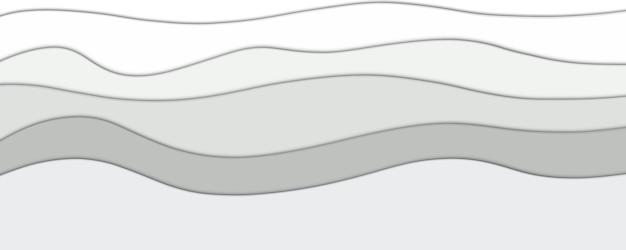 Abstrakter farbverlauf grauer papierschnitteffekthintergrund für ihr design