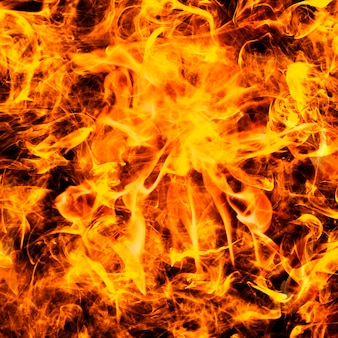 Abstrakter flammenhintergrund, loderndes orangefarbenes feuer