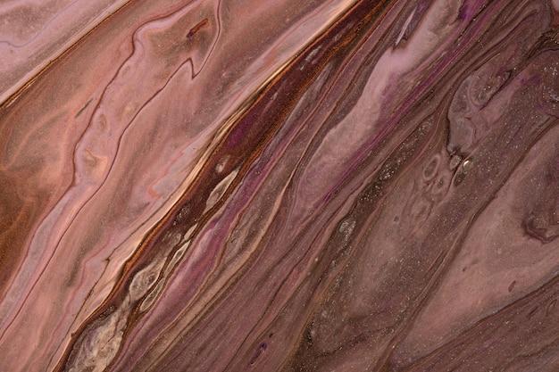 Abstrakter flüssiger kunsthintergrund dunkle lila und braune farben. flüssiger marmor. acrylmalerei mit umbra farbverlauf und spritzer. aquarellhintergrund mit wellenförmigem muster. stein marmorierter abschnitt.