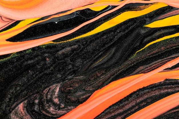 Abstrakter flüssiger marmor orange hintergrund diy experimentelle kunst Kostenlose Fotos