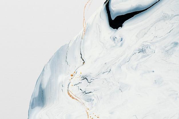 Abstrakter flüssiger marmor weißer hintergrund handgemachte experimentelle kunst