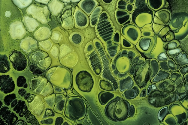 Abstrakter flüssiger schwarzer und grüner acrylmalereifarbenhintergrund