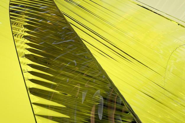Abstrakter gelber glashintergrund