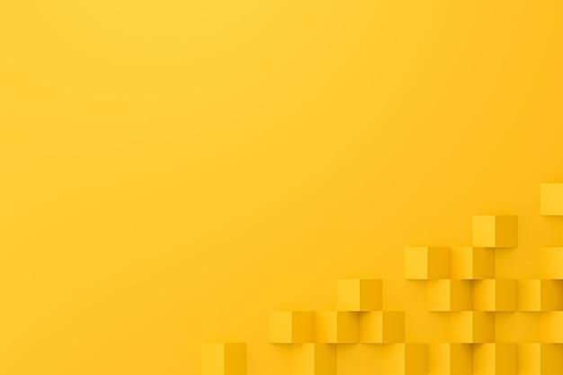 Abstrakter gelber hintergrund mit polygonpapierart.