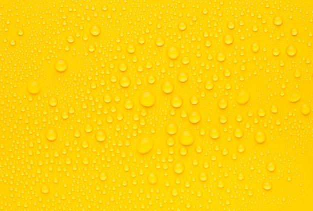 Abstrakter gelber wassertropfenhintergrund