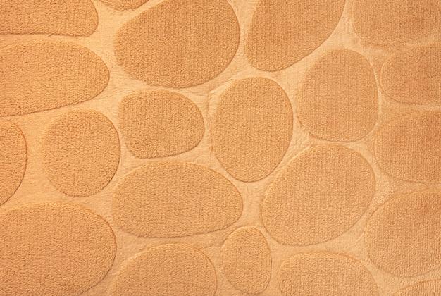Abstrakter gelber weicher stoffkreislinienbeschaffenheitshintergrund
