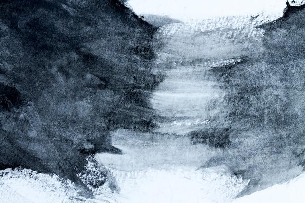 Abstrakter gemalter hintergrund des schwarzweiss-aquarells oder beschaffenheit. nahansicht.