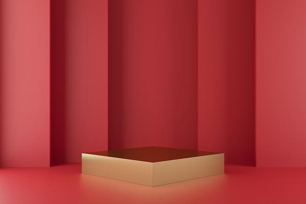 Abstrakter geometrieformhintergrund mit podiumminimalisten