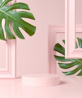 Abstrakter geometrieformhintergrund. podium minimalistische szene