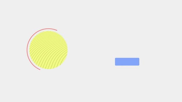 Abstrakter geometrischer gelber kreis und formen, retro- hintergrund. eleganter und luxuriöser dynamischer 3d-illustrationsstil für geschäfts- und unternehmensvorlagen