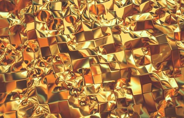 Abstrakter geometrischer goldkristallhintergrund