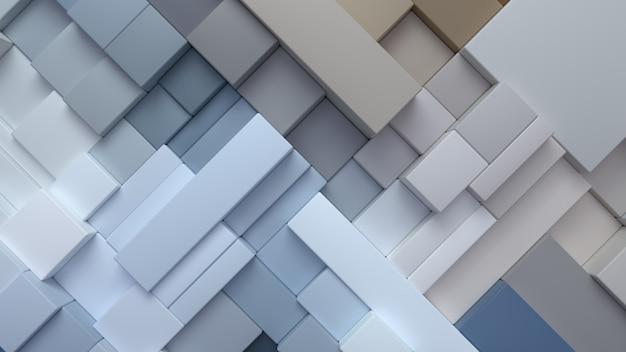 Abstrakter geometrischer hintergrund mit mehrfarbigen zufälligen kästen
