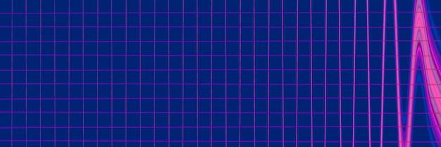 Abstrakter geometrischer hintergrund. muster der leuchtenden linien. stilvolle symmetrische futuristische textur.