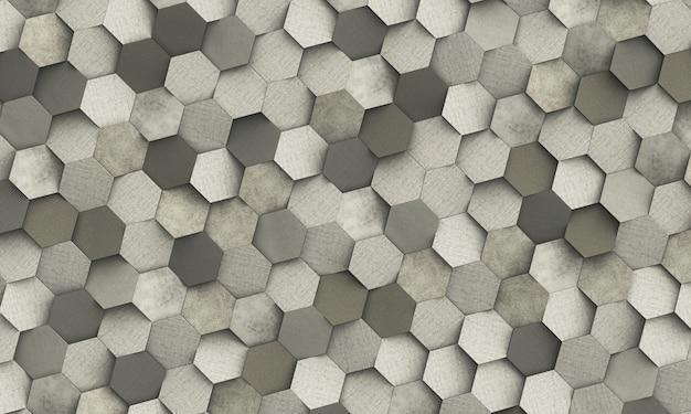 Abstrakter geometrischer hintergrund von sechseckigem