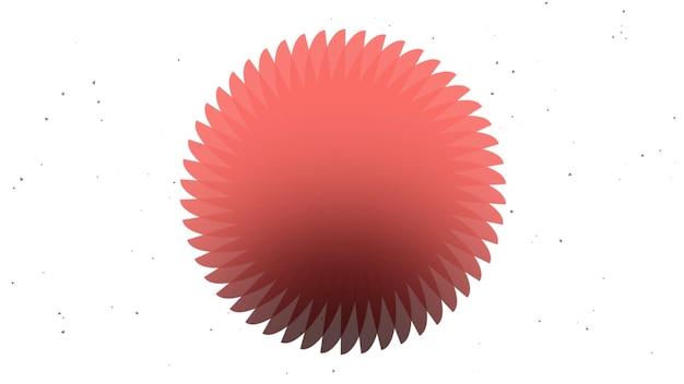 Abstrakter geometrischer roter kreis, retro- hintergrund. eleganter und luxuriöser dynamischer 3d-illustrationsstil für geschäfts- und unternehmensvorlagen