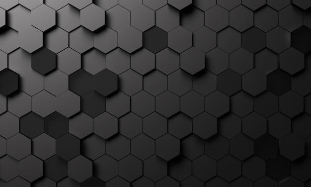 Abstrakter geometrischer sechseckiger hintergrund in der 3d-darstellung
