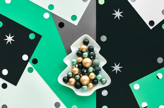 Abstrakter geometrischer weihnachtshintergrund